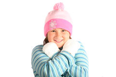 Lets play outside. Getting ready to play in the snow royalty free stock photography
