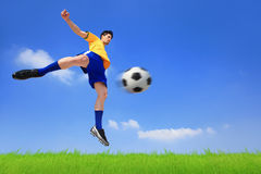 Lets play soccer now Royalty Free Stock Photos