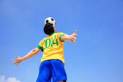 Lets play soccer now Royalty Free Stock Image