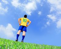 Lets play soccer now Stock Photography