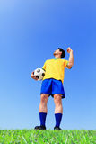 Lets play soccer now Stock Photos