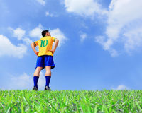 Lets play soccer now Stock Images