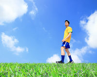 Lets play soccer now Stock Photo