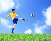 Lets play soccer now Royalty Free Stock Images