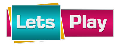 Lets Play Turquoise Pink Horizontal Royalty Free Stock Photo