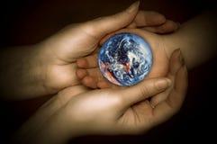 Let´s protege la tierra Foto de archivo libre de regalías