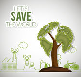 Lets save the world ecology factory house bike Stock Photo