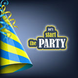 Lets Start the Party, Holiday Banner. Stock Photos