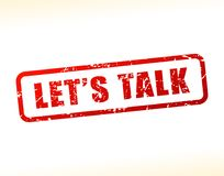 Lets talk text buffered. Illustration of lets talk text buffered on white background Stock Photo