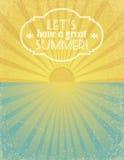 Lets tem um grande verão Foto de Stock Royalty Free