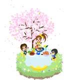 Cafe av körsbäret Blossom-1 Arkivfoton