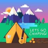 Lets va a acampar Imagen de archivo libre de regalías