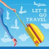 Lets va viaje Imagen de archivo libre de regalías