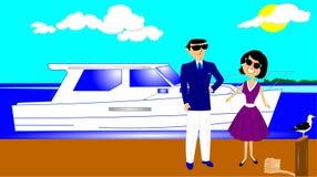 Lets vont pour un tour de bateau Photo libre de droits