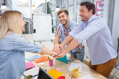 Lets work together and make great success Stock Photo