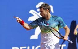 Letse tennisspeler Ernests Gulbis Stock Fotografie