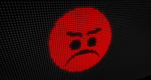LETT ilsket för Emoticon Arkivfoton