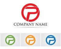 Lette corporativo del negocio del vector del diseño del logotipo de P ilustración del vector
