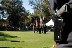 Lettend op de toekomst - graduatie LAPD Royalty-vrije Stock Foto