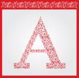 Letter  «А». Vector illustration eps.10.  Stock Image