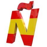 Letter ñ 3d Stock Image