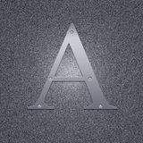 Letter A Royalty Free Stock Photography