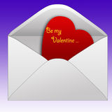 Letter. A letter whit a heart inside ,suitable for the Valentines day Royalty Free Stock Photos