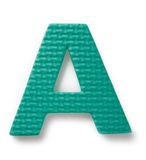 Letter A. Isolated on the white background Royalty Free Stock Photos