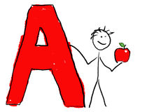 Letter A Stock Image
