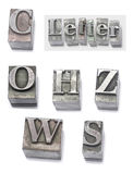 Letter. Set type Royalty Free Stock Photography