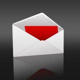 Letter. High resolution image  letter. 2d illustration over  black backgrounds Stock Photography