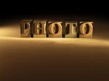 Letter. Photo Vector Illustration