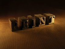 Letter. Print Royalty Free Stock Images