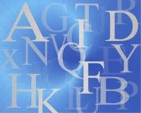 Letter. Alphabet on blue background vector illustration