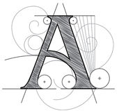 Letter A. Vector Letter A for design royalty free illustration