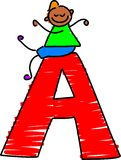 Letter A Boy Royalty Free Stock Photo