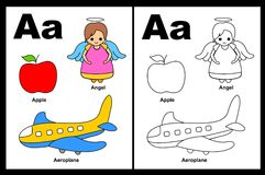 Letter A Worksheet Royalty Free Stock Image