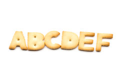 Letter ABCDEF biscuit Stock Photo