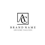 Letter AC square logo Royalty Free Stock Image