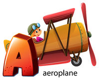 A letter A for aeroplane. Illustration of a letter A for aeroplane on a white background Stock Photos