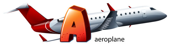 A letter A for aeroplane Stock Photo