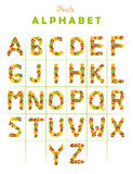 Letter alphabet from fruit Stock Image