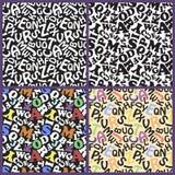 Letter alphabet kids pattern Stock Image