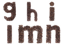 Letter of alphabet made of coffee beans Stock Image