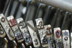 Letter ampersand of an old typewriter of a journalist Stock Image