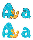 Letter A anchor. Illustration of a letter A anchor Stock Image