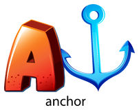 A letter A for anchor Royalty Free Stock Photography