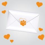 Letter animal love Stock Images