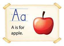 A letter A for apple Royalty Free Stock Images