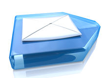 Letter and arrow. With registration information associated with the Internet and communication Stock Images